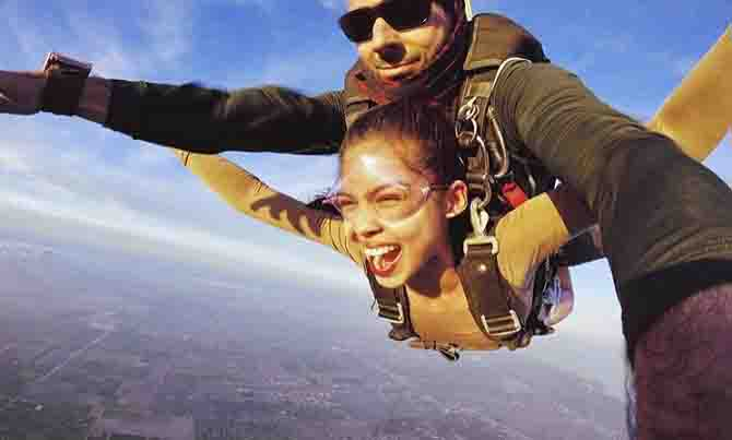 Maine Mendoza sinubukang mag-sky diving
