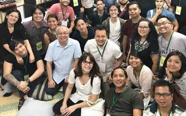 Jessy Mendiola attends Ricky Lee's scriptwriting workshop