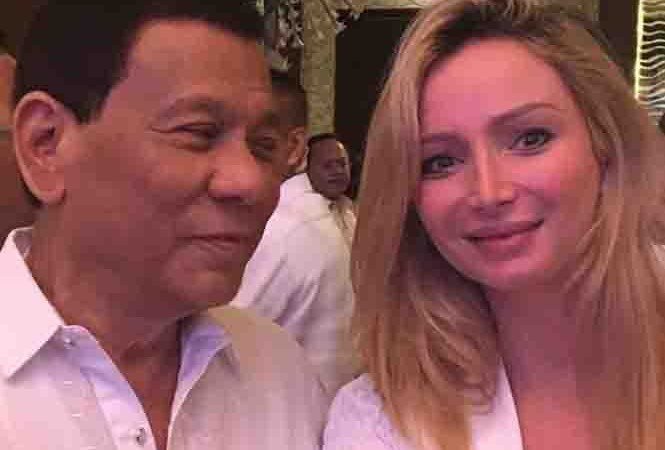 President Duterte 'captivated' by James Yap's partner Michela Cazzola