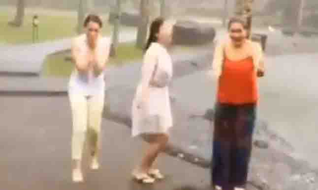 WATCH:  Angel Locsin, Julia Montes and Dimples Romana play and dance in the rain