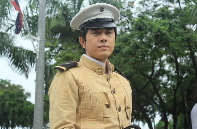 Paulo Avelino dresses up as 'Goyo' during the Independence Day Celebration in Luneta