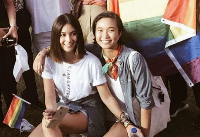 Sam Milby's ex Mari Jasmine attends Metro Manila Pride March with girlfriend