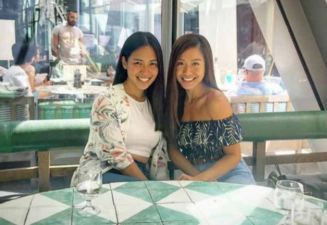 Miss Saigon stars Rachelle Ann Go and Aicelle Santos reunite in England