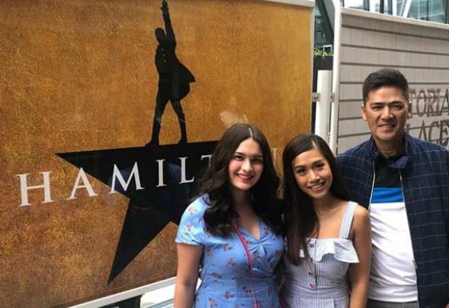 Vic Sotto and Pauleen Luna catch Rachelle Ann Go's theater performance in London