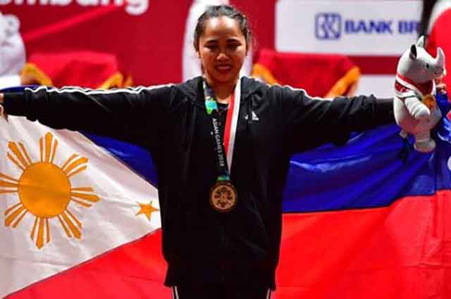 Hidilyn Diaz bags PH's first gold in 2018 Asian Games