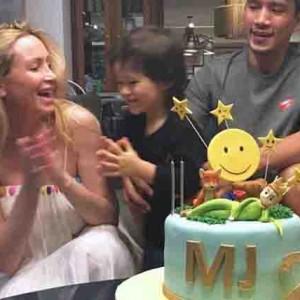 James Yap and Michela Cazzola's son Michael James celebrates second birthday