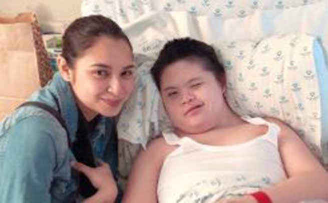 Sofia Andres' brother gets a surprise hospital visit from his crush Ryza Cenon