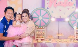 Camille Prats' daughter Nala celebrates her first birthday like a princess