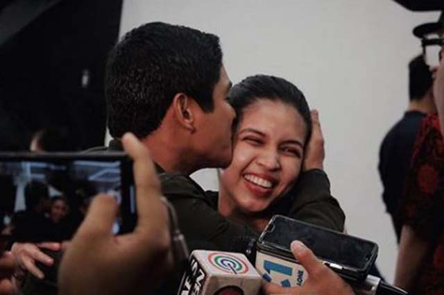 WATCH: Maine Mendoza gets a kiss from Coco Martin