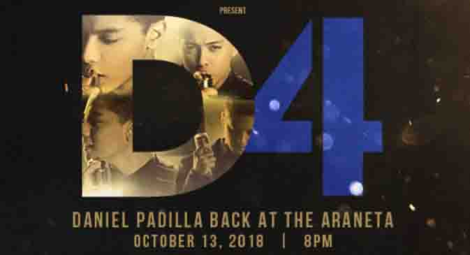 Daniel Padilla prepares for his 'D4' concert