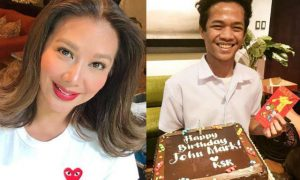 Korina Sanchez surprises her homeboy on his birthday with cake and 'ang pao'