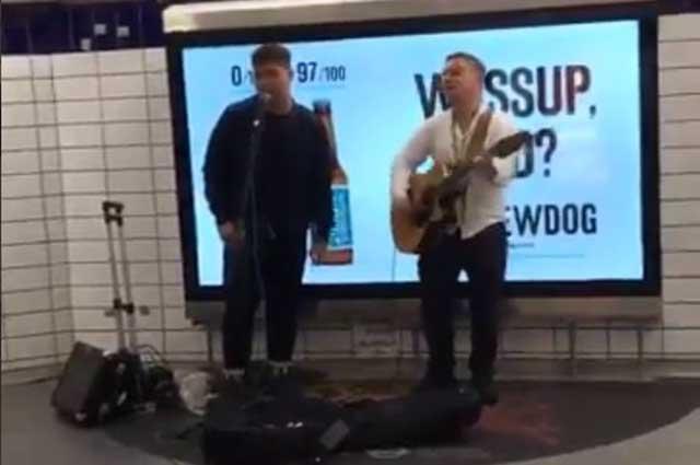 WATCH: Rhap Salazar amazes commuters as he busks in a train station in London