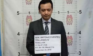 Senator Antonio Trillanes arrested by Makati Police