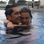 WATCH: Angelica Panganiban and Carlo Aquino's sweet moment while dipping and hugging in the pool