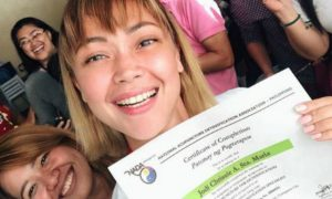 Jodi Sta. Maria is now a certified Acupuncture Detoxification Specialist