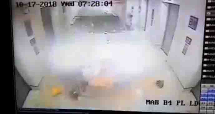 WATCH:  SUV crashes into St. Luke's BGC elevator area