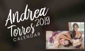 Andrea Torres thanks fans with sizzling 2019 calendar