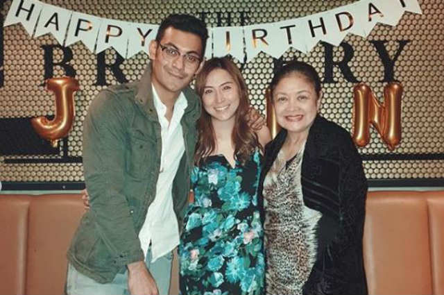 Gab Valenciano celebrates birthday of newly introduced girlfriend with his family