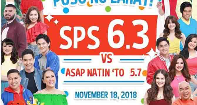 Sunday Pinasaya vs ASAP Natin 'To TV Ratings