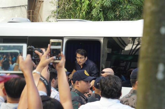 Bong Revilla, acquitted of plunder in pork barrel scam case