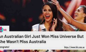 Australian media outlet claims Catriona Gray is Miss Universe Queensland not Philippines