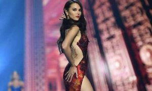 WATCH: Catriona Gray in her fiery evening gown