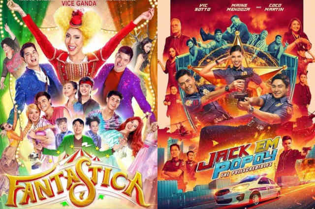 """""""Fantastica"""" and """"Jack Em Popoy"""" earn top spots on MMFF's first two days of screening"""