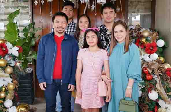 Pacquiao family share Christmas tree in General Santos