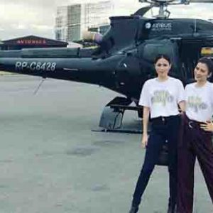 Toni and Alex Gonzaga travel in style via a helicopter