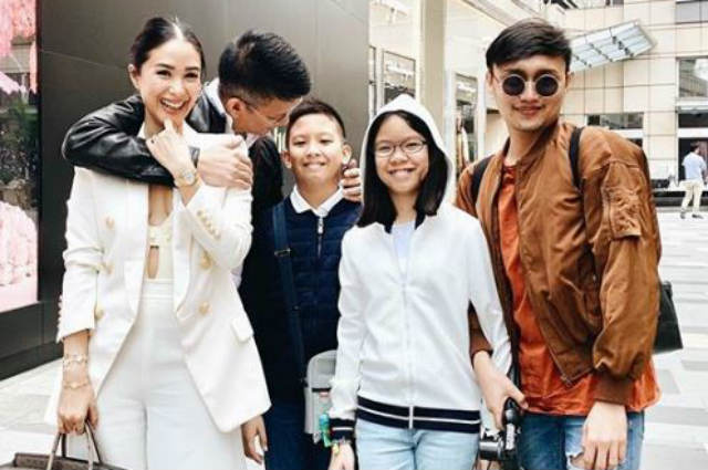 Chiz Escudero brings family to China to be with Heart Evangelista