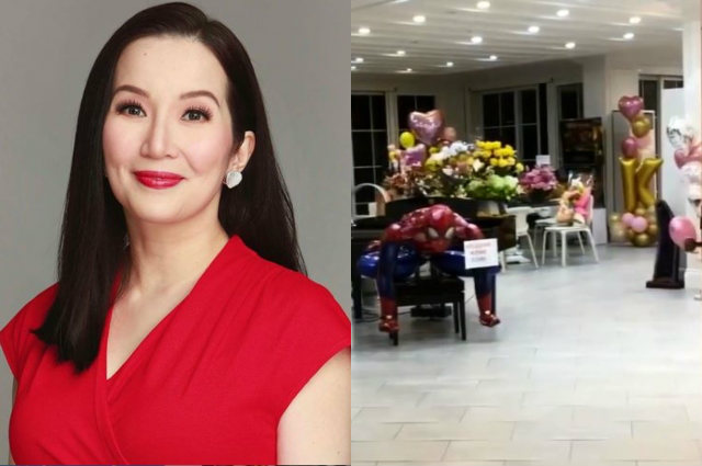 Kris Aquino greeted with flowers and balloons from celebrity friends upon coming home from Singapore