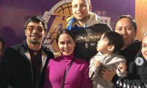 Pacquiao family meets Stephen Curry and Kevin Durant