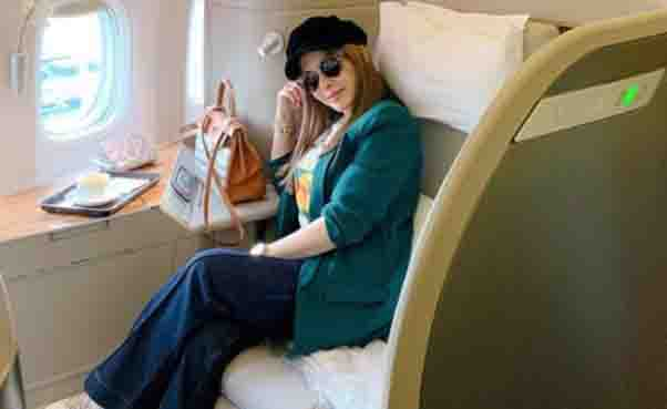 Jinkee Pacquiao travels to Hongkong in style