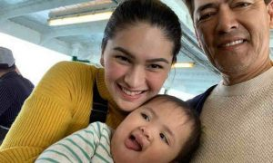 Vic Sotto, Pauleen Luna, and baby Tali go on a Hong Kong trip together
