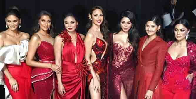 Pinay Miss Universe Beauties together at 'Raise Your Flag' homecoming show