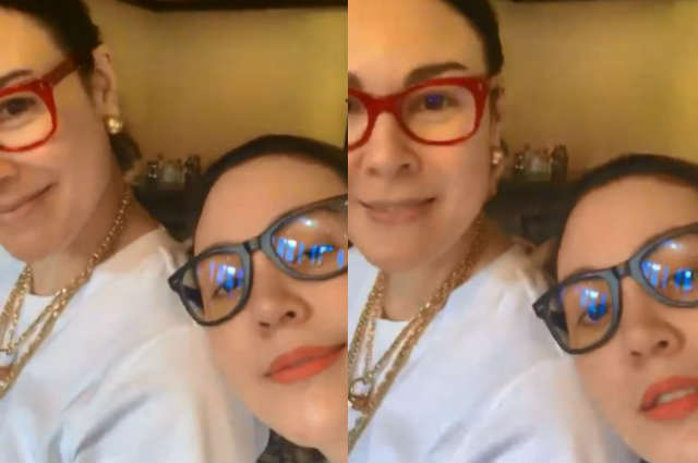 Claudine Barretto visits Gretchen Barretto at her mansion in Forbes Park