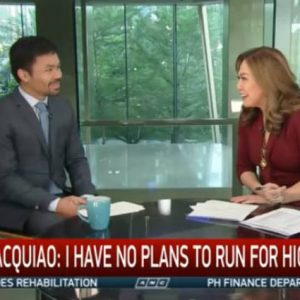 Netizens react to Karen Davila's interview with Manny Pacquiao on politicians' college degree