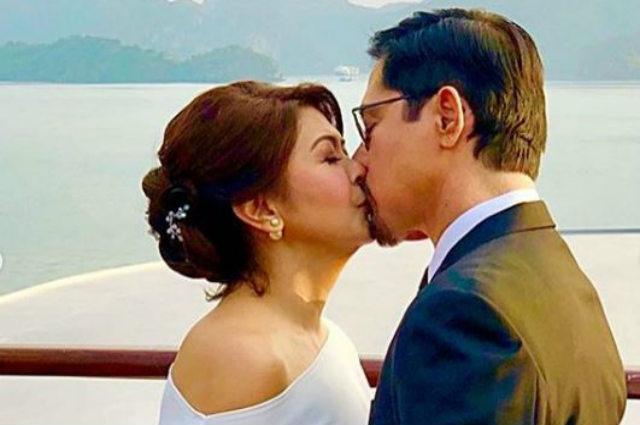 Sandy Andolong and Christopher De Leon renew wedding vows