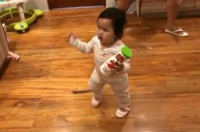 WATCH: Baby Tali can now walk by herself