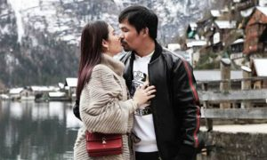 LOOK: Jinkee and Manny Pacquiao share sweet kisses in Austria