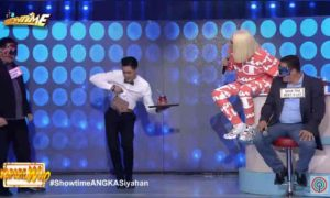 WATCH: Vice Ganda accidentally breaks glass after gushing over Ion Perez's abs