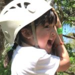 WATCH: Zia Dantes tries the zip line for the first time