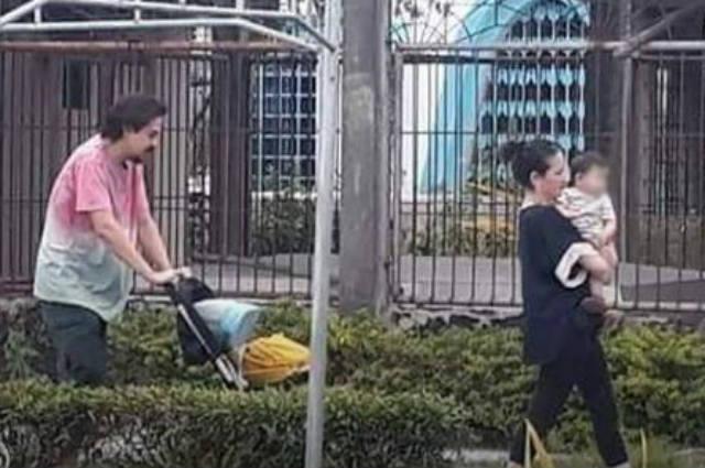 LOOK: John Lloyd Cruz and Ellen Adarna spotted with son Elias at a cemetery in Cebu