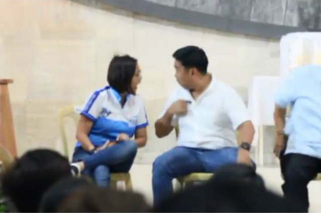 WATCH: Junjun and Abby Binay's heated confrontation during church forum