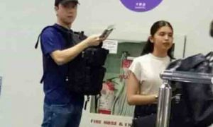 Arjo Atayde and Maine Mendoza spotted at NAIA