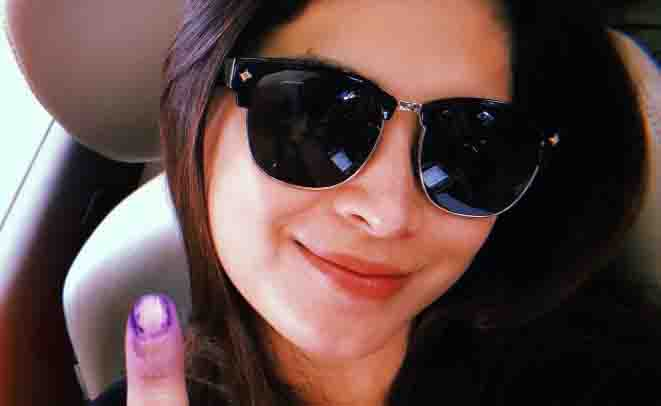 Celebrities exercise their right to vote