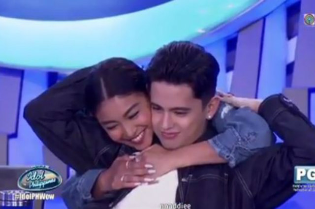 WATCH: Nadine Lustre makes surprise visit to James Reid on set of 'Idol Philippines'