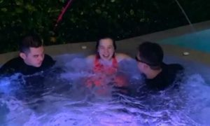 WATCH: Kris Aquino shares bonding time with kids in their pool