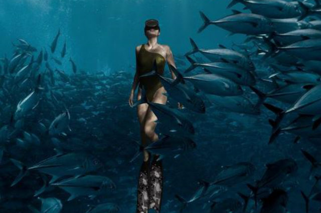 LOOK: Sarah Lahbati's stunning under the sea photo with a school of fish draws attention online