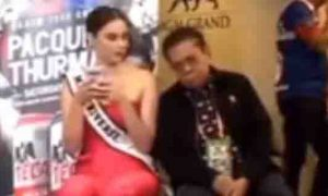 Inaantok na Chavit Singson katabi si Catriona Gray video umabot na ng 1 million views